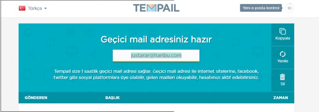 tempail-sahte-mail